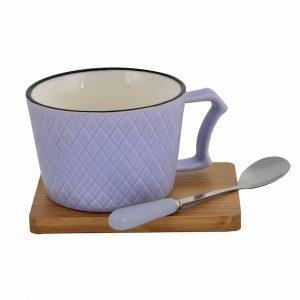 Φλυτζάνι Με BABOO Πιάτο & Κουτάλι