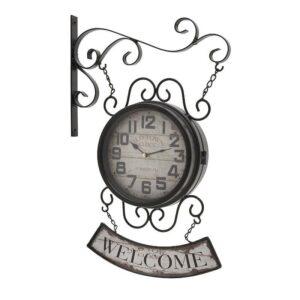 Inart Ρολόι Τοίχου Μεταλλικό 33x51cm