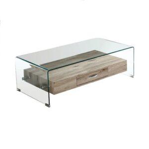 Τραπεζάκι Σαλονιού Glasser Wood Ορθογώνιο 110x55x35cm