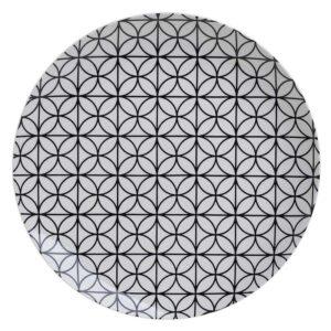 Inart Πιάτο Ρηχό Πορσελάνης Στρογγυλό Ø27cm