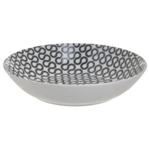 Inart Πιάτο Βαθύ Πορσελάνης Στρογγυλό Ø20cm